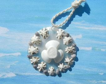 Wedding Gift - Black Tie -  Seashell Holiday Ornament Wedding Favor