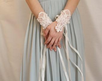Lace and Silk Ribbon Bridal Bracelets