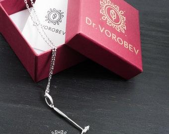 Silver Reflex Hummer Necklace - Medical Jewellery - Reflex Hummer Necklace - Silver Medical Necklace - Silver Medical Pendant - Doctors Gift