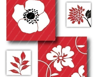 Gallery 1 inch Square Tiles, Digital Collage Sheet, Download and Print Jpeg Clip Art Images
