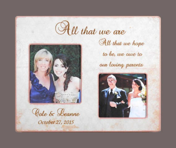 GIFT To PARENTS - Wedding Frame forParents- Personalized Picture ...