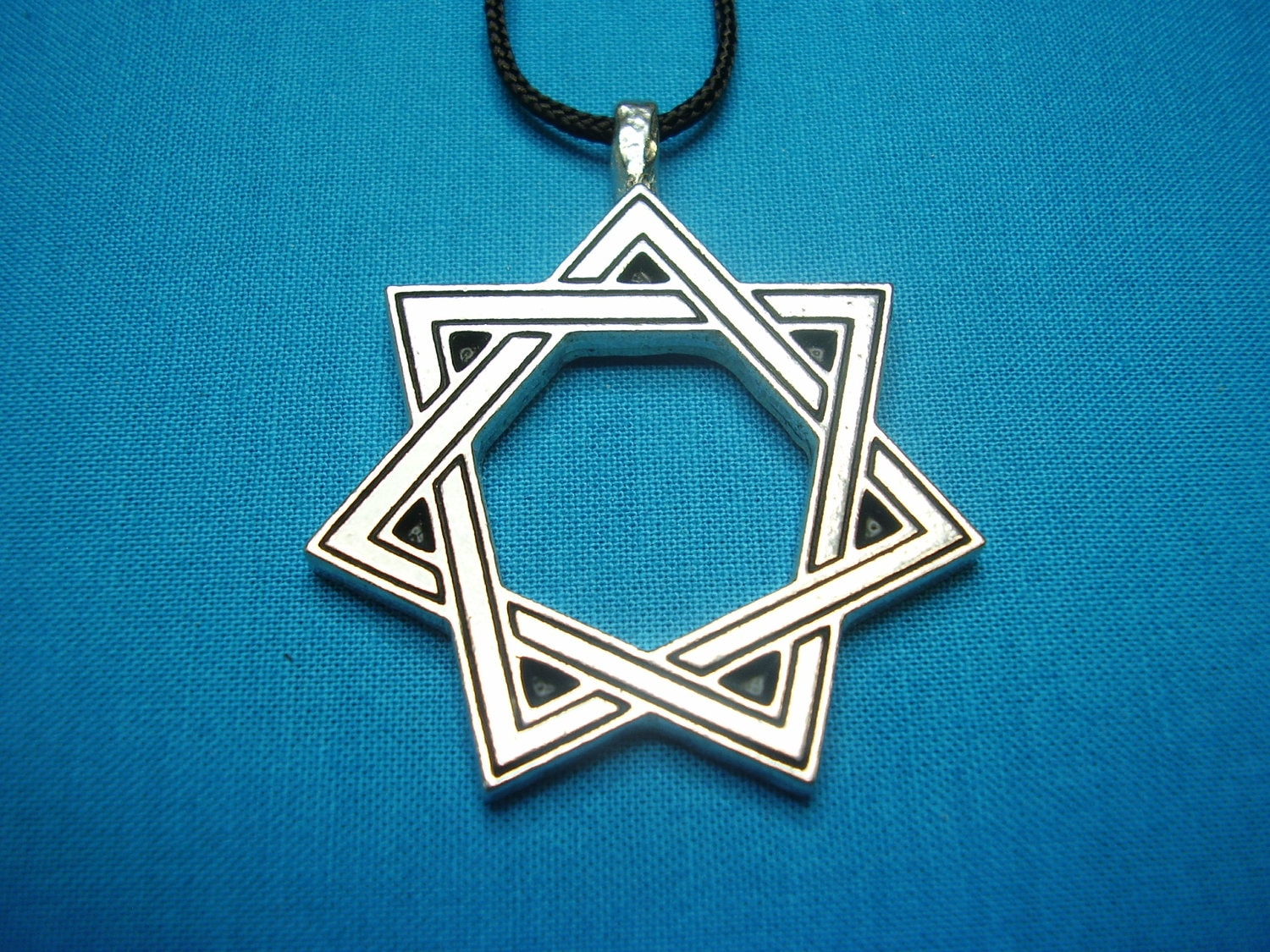 Magical 7 pointed star heptagram septagram large silver zoom aloadofball