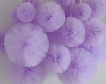 25 tulle pompom value set - best Quality - your colors - / wedding decorations / birthday / nursery decor