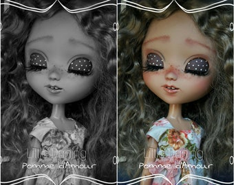 Commission makeup + sculpt for your doll. ooak custom Pullip doll. Little Darling
