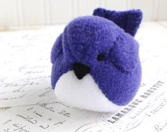 Fleece Bird Stuffed Animal Purple Plush Bird Etsy Stuffed Animals