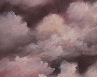 Acid Rain, Original Painting, Apocalyptic landscape Painting, Childhood,  Sci Fi, Winjimir, Art, Wall Art, Home Decor, Office Decor, gift