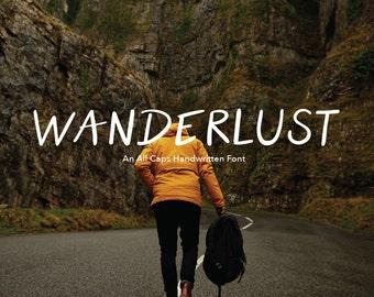Font Handlettered Sans Serif- Wanderlust