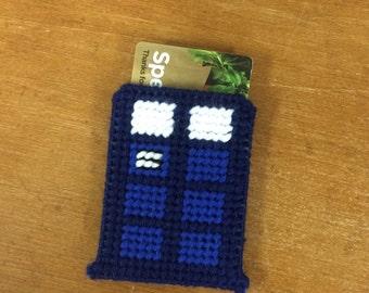 Tardis Gift Card Holder
