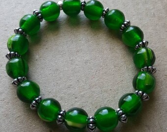 Emerald color bracelet