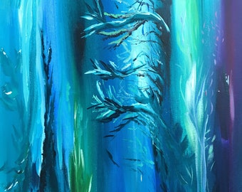 under the sea abstract painting