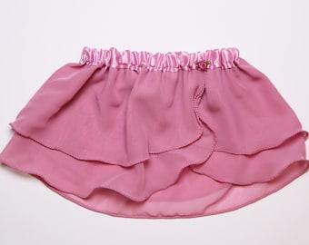 Girls Mauve Ballet Skirt - Dancewear - Pink Skirt - Ice Skating - Toddlers Ballet Skirt - Childs Ballet Skirt - Faux Wrap Skirt - Tutu