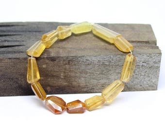 Hessonite Garnet faceted tube beads 11x8-19x9 mm, natural hessonite garnet 13 beads strand, hessonite shaded faceted beads strand :- NW60