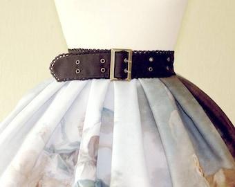 Black lace belt bronze buckle plus size gothic belt custom handmade belt gothic belt egl gothic lolita fashion victorian mourning art deco
