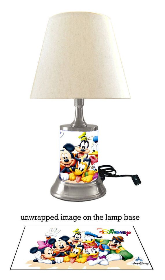 Disney characters lamp with shade mickey mouse minnie mouse aloadofball Image collections