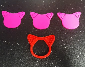 Cat Ear Cookie Cutter – 3D Printed - Bakery Cookie Cutter - Baby Cookie Cutter - Custom Cookie - Clay Cutter - Fondant Cutter- FunOrders