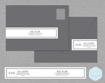 Sophistication Wraparound Mailing Address Label [Printable | DIY | Digital File]