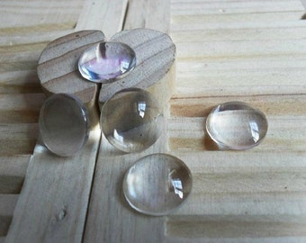 30pieces  14mm Round Glass Cabochon