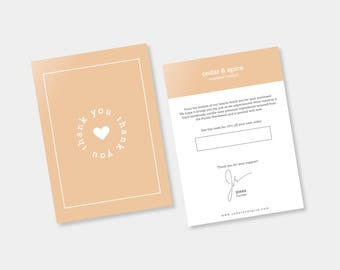 Cute Heart Thank You Card Design