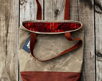 Coffeehouse Tote w/Leather