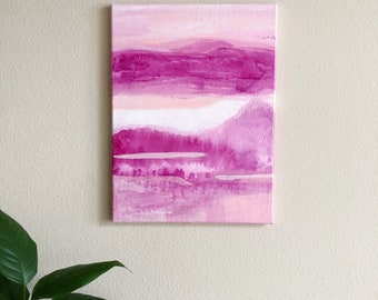 Pink Goodness | Modern Abstract | Acrylic on Canvas 12x18""