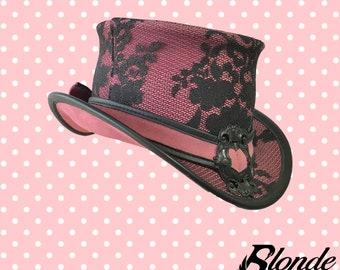 Pink & Black Lace Mini-Topper