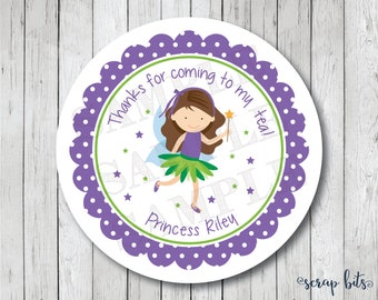 Personalized Fairy Stickers, Labels or Tags