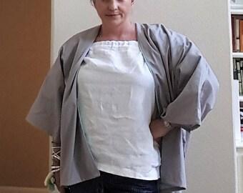 Womens kimono jacket asymetrical