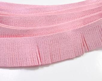 """1.18""""(30mm)  bright pink Suede Leather Fringes for costume fringes,fringed trim faux suede,3.3ft tassel pendant,Indian fringes.DIY handmade"""