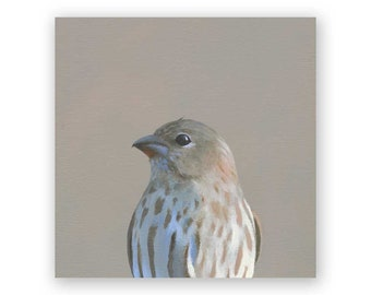 House Sparrow - 6 x 6 Wings on Wood Decor