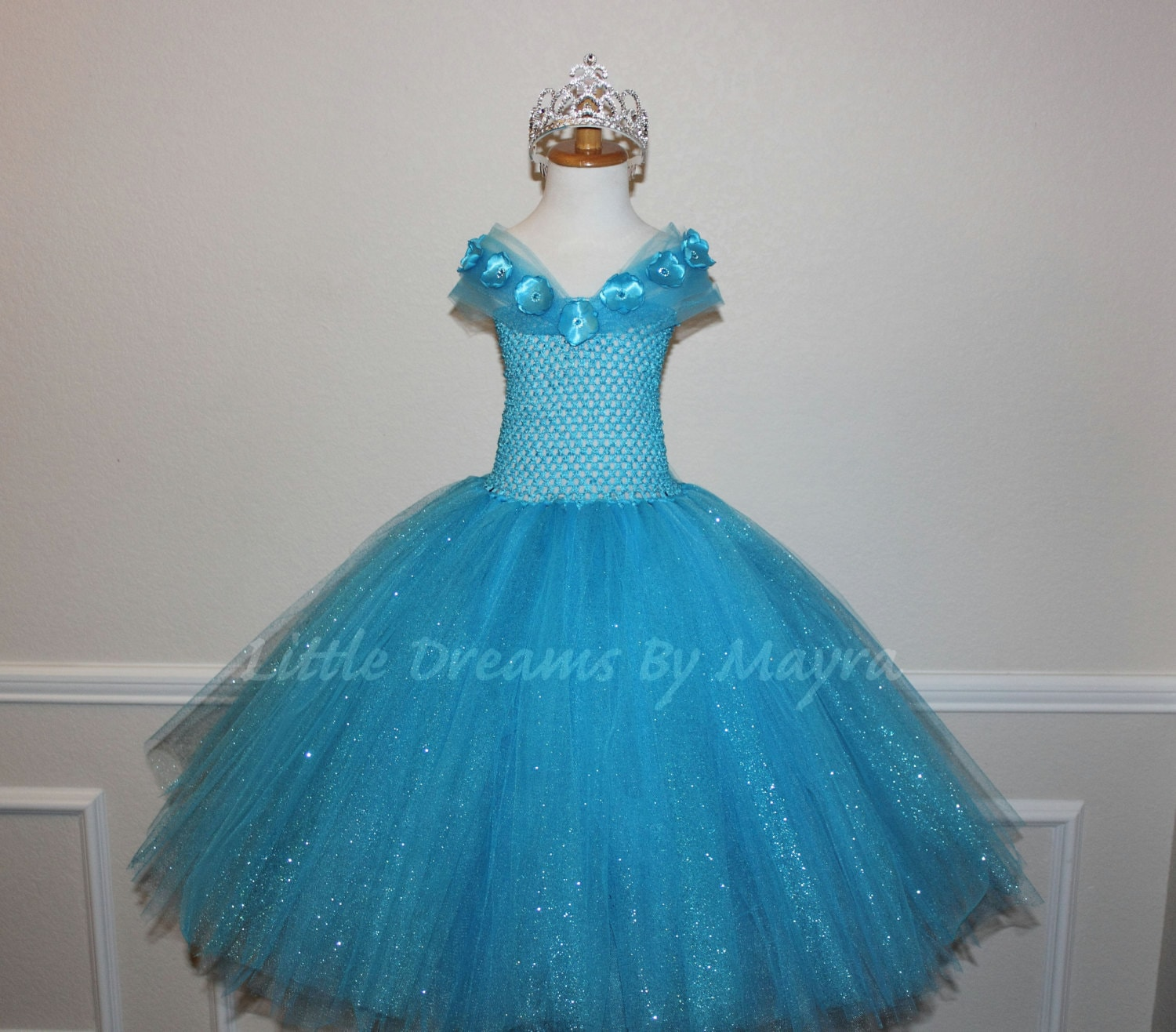 Cinderella 2015 inspired glitter tutu dress and FREE tiara or