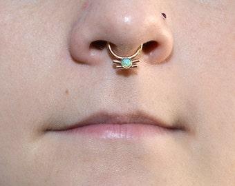 Gold Septum Ring, Septum hoop, Daith piercing, Nipple jewelry, Daith earring, Septum piercing