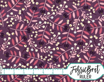 BLUSH PINK PURPLE Leaf Fabric by the Yard Fat Quarter Leaves Botanical Floral Fabric Quilting Fabric Apparel Fabric 100% Cotton Fabric