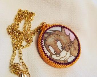 Peyote necklace \ Cartoon necklace \ Necklace with jerry \ Walt Disney Necklace