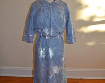 1950's Lilac Lace 3 pc. Dress Set
