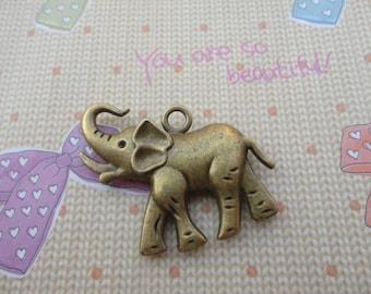 20pcs 32x31x5mm elephant Antique Bronze Retro Pendant Charm For Jewelry Pendant