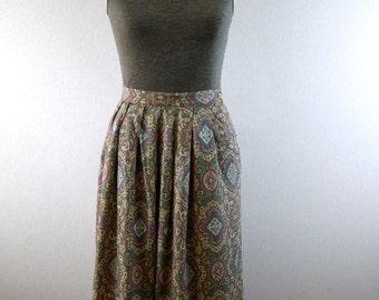 Pink Paisley A-Line Skirt