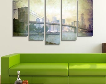 Brooklyn Bridge, Brooklyn Bridge Canvas, Brooklyn Bridge Print, Bridge, Extra Large Wall Art, Wall Canvas Art, Extra Large Art, Home Décor