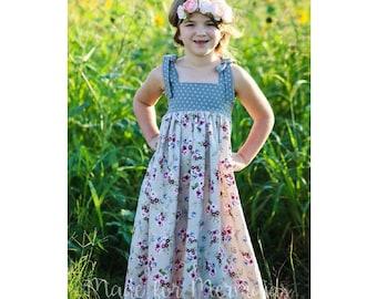 Alyssa Top, Tunic, Dress & Maxi PDF Pattern instant download size 1/2-14years