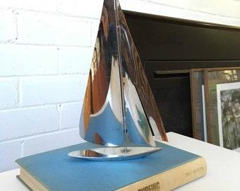 Art Deco Chrome Sail Boat