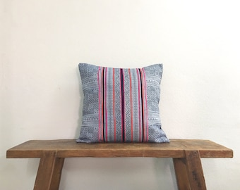 "18"" by 18"" Vintage Cushion Covers Hmong Hill Tribe Hobo Boho Ethnic Batik Thai"