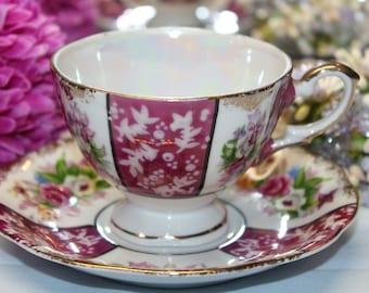 Porcelain Teacup and Saucer Set
