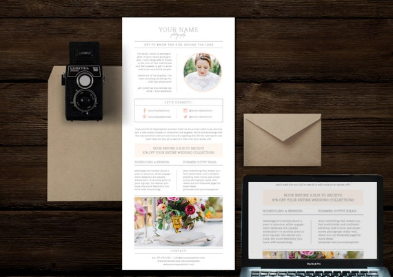 Email Newsletter Template For Photographers  Wedding