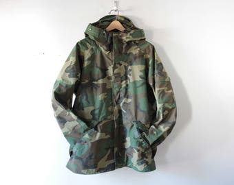 Cold weather camouflage parka jacket