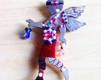Liztech Jewelry - Woodland Sprite - Cupid - Victorian Silhouette Pin - Rare
