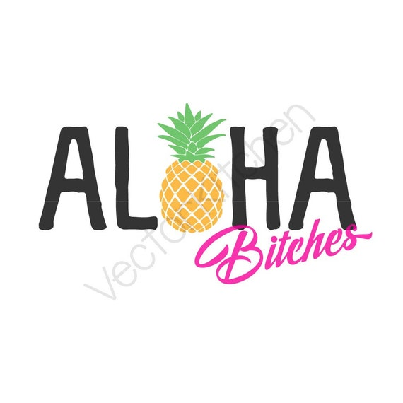 Aloha puta piña plantilla EPS SVG silueta Cricut DIY para