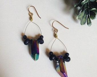 Lava diffuser earrings