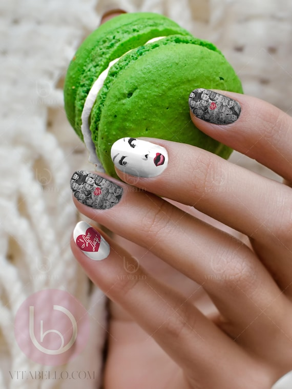 I Love Lucy Nail Decal Tv show nail art Nail Design Lucy