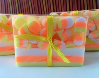 Candy Corn Soap - Halloween Soap - Fall Soap - Soap for Kids - Halloween Gift - Candy Soap - Halloween Favor