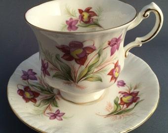 Paragon Pitcher Plant Tea Cup and Saucer
