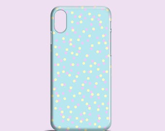 Pastel confetti mobile phone case / iPhone X, iPhone 8, iPhone 7, 7/8 Plus, iPhone 6, 6S, iPhone 5/5S, SE, Samsung Galaxy S7, S6, S5